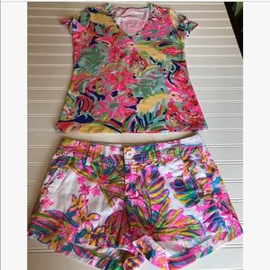 Lilly Pulitzer top and bottom Sz xsmall